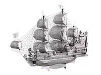 Металлическая сборная 3D модель Iconx Black Pearl Корабль Черная Жемчужина