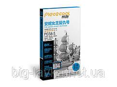 Металлическая сборная 3D модель Корабль королевы Анны