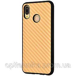 Hard Carbon Case Huawei P20 Lite gold