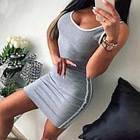 Плаття облягає жіноче L Сірий