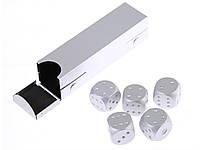Набор игральных кубиков Moun  Серебристый