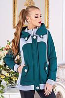 Шикарнейшая толстовка-пальто с капюшоном на флисе  xxl, xxxl, р.50-54 есть большие, цвета