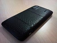 Декоративная защитная пленка для HTC Design 4G, рептилия черная, фото 1