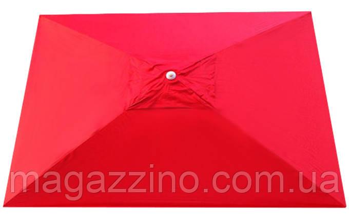 Зонт прямоугольный с ветровым клапаном, Красный, 3 х 2 м.