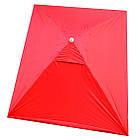 Зонт прямоугольный с ветровым клапаном, Красный, 3 х 2 м., фото 4