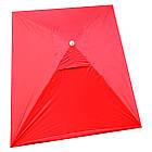 Зонт прямоугольный с ветровым клапаном, Красный, 3 х 2 м., фото 8