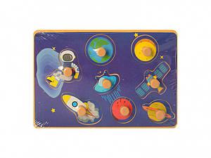 Деревянная игрушка Рамка-вкладыш MD  2384-01 ( 2384-011 (Космос))