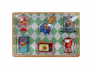 Деревянная игрушка Рамка-вкладыш MD  2384-01 ( 2384-017 (Бытовая техника) )