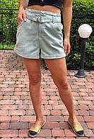 Шорты женские короткие с высокой талией  Busem - мятный цвет, 38р (есть размеры), фото 1