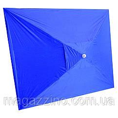 Зонт прямокутний з вітровим клапаном, Синій, 3 х 2 м.
