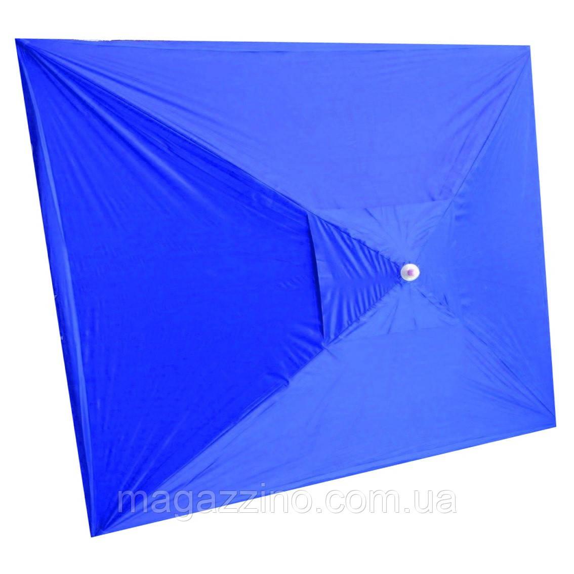 Зонт прямоугольный с ветровым клапаном, Синий, 3 х 2 м.