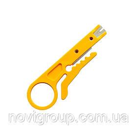 Інструмент для зачистки кабелю Stripper, yellow, ціна за штуку, Q100