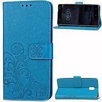 Чехол Clover для Nokia 3 Книжка кожа PU голубой