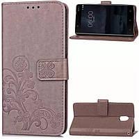 Чохол Clover для Nokia 3 Книжка шкіра PU сірий