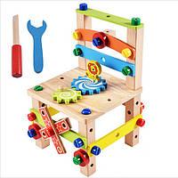 Деревянная игрушка Конструктор «Стул», развивающие товары для детей.