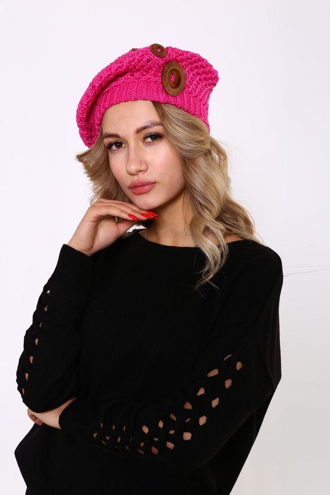 Шапка женская 126R010 цвет Розовый