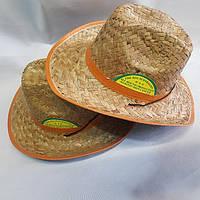Шляпа Мужская Ковбойская соломеная