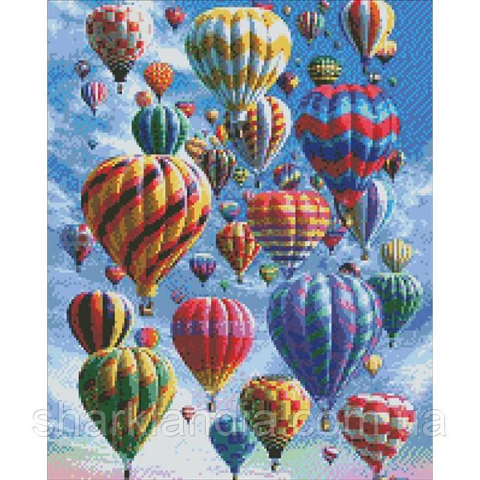 """Алмазная вышивка. """"Воздушные шары""""  40*50см AM6010"""
