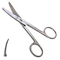 Ножиці вертикально зігнуті тупокінцеві хірургічні дитячі. Довжина 12,5 см Surgiwelomed