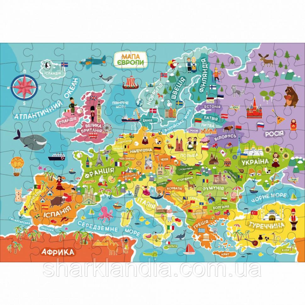 """Пазл DoDo """"Карта Европы"""" украинская версия 300129"""
