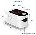Пульсоксиметр  пальцевой SN-118 на батарейках. Портативный измеритель пульса и уровня кислорода в крови., фото 6