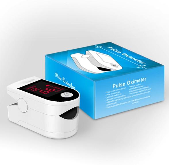 Пульсоксиметр пальцевої SN-118 на батарейках. Портативний вимірювач пульсу та рівня кисню в крові.