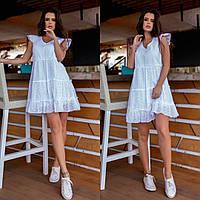 Женское летнее платье ткань прошва+батист размер норма и батал 42-44,44-46,48-50,52-54.