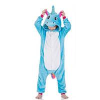 Пижама детская Kigurumba Единорог New S - рост 105 - 115 см Голубой с белым K0W1-0056-S, КОД: 1775312