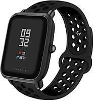 Ремешок BeWatch силиконовый 20мм для смарт-часов Xiaomi amazfit BIP | Lite | GTS | GTR 42mm Черно Черный (1010101)