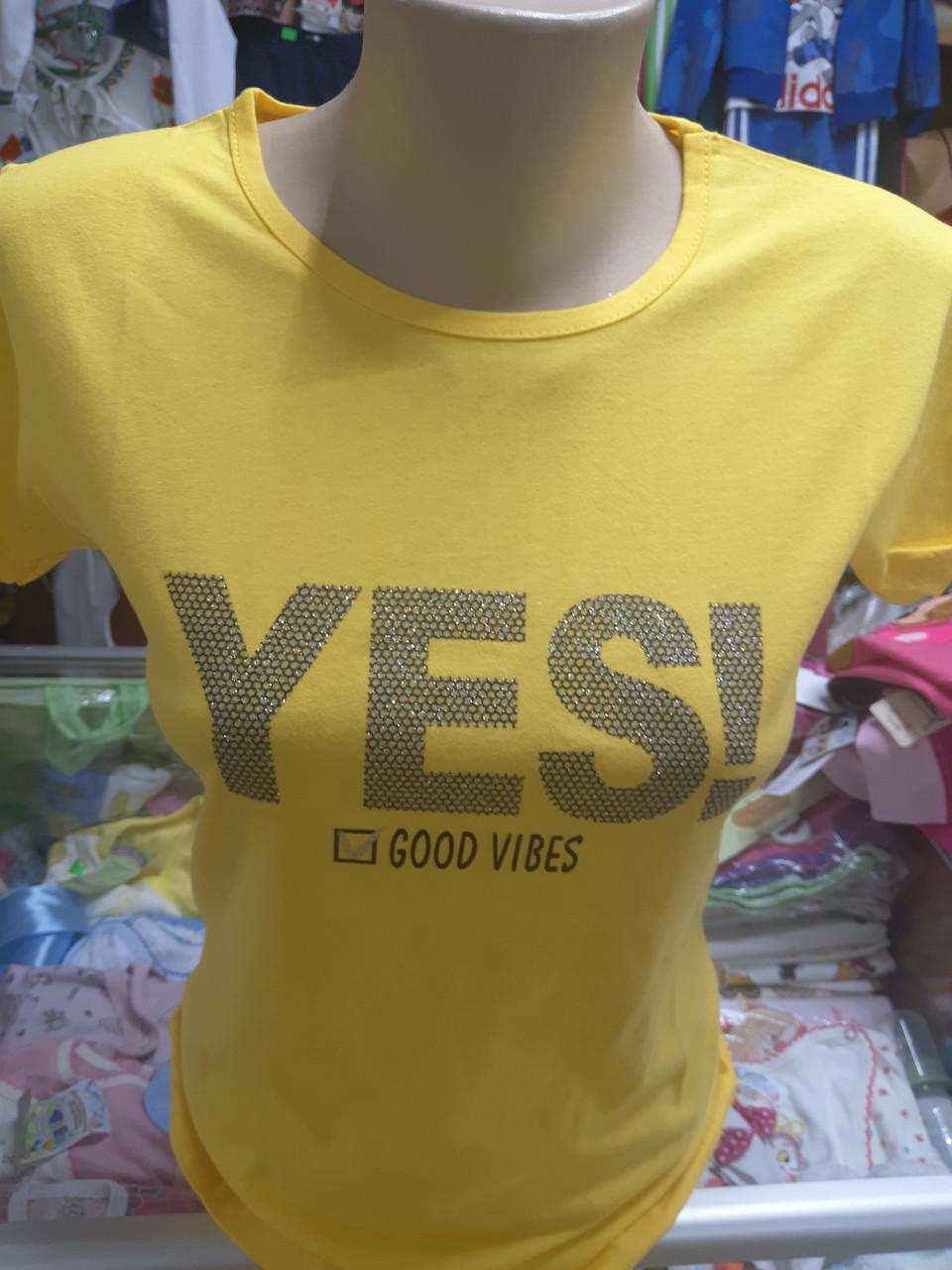 Жіноча літнє бавовняна футболка р. 46 48