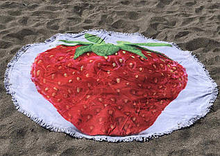 Пляжное покрывало с ярким принтом Strawberry