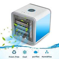 Мини кондиционер охладитель увлажнитель очиститель воздуха с LED подсветкой Arctic Air PRO Белый (Оригинал)