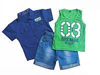 Комплект детский для мальчика (шведка, майка,шорты) 2,3,5 лет
