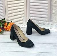 Зеленые замшевые туфли лодочки, фото 1
