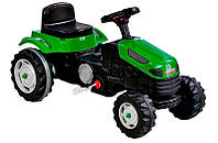 Детский педальный трактор веломобиль на педалях зеленый Pilsan 07-314