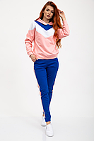 Женский спортивный костюм  сине-розового цвета