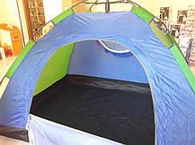 Палатка-автомат с автоматическим каркасом 2-х местная (синий) размер  200х150х125, фото 2