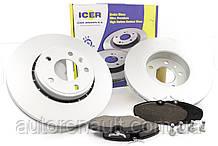 Тормозные диски 2шт.+колодки передний на Рено Трафик 01> ICER (Испания) 313156845
