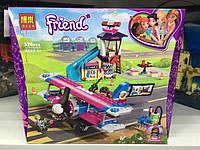 Конструктор Bela аналог лего Friends Френдс Авиа экскурсия, самолёт, горка, фигурка, 326 деталей