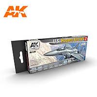 """Набор акриловых красок """"Современные самолеты США 2"""". AK-INTERACTIVE AK-2140"""