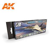Набор акриловых красок израильских ВВС «Цветовая серия». AK-INTERACTIVE AK-2150