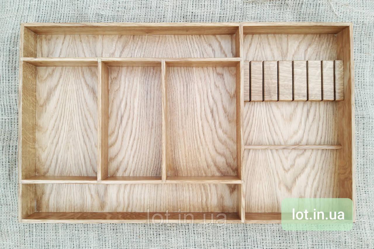 Деревянный лоток для столовых приборов Lot k606 600х400. (индивидуальные размеры)