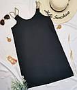 Чорний жіночий сарафан короткий з кишенями, фото 2