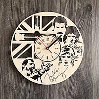 Настенные часы 7Arts из дерева в интерьер Queen CL-0240, КОД: 1474393