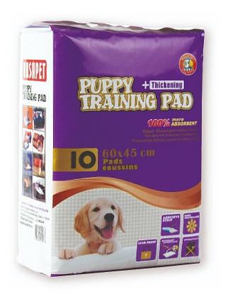 Пеленка HUSHPET, Puppy Training Pad 6-слойная, 60х45 см, 10 шт в уп., фото 2