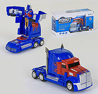 Машина-трансформер на батарейках Трейлер Small Toys FW-2036A 2 в 1 Красно-синий 2-69414, КОД: 1248944