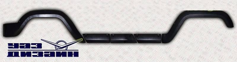 Накладка крыльев и дверей УАЗ 469,Hunter полный к-кт (пр-во Ульяновск Россия), фото 2