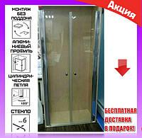 Душевая дверь в нишу 90х190 см Atlantis ACB-30-90 профиль хром/стекло прозрачное