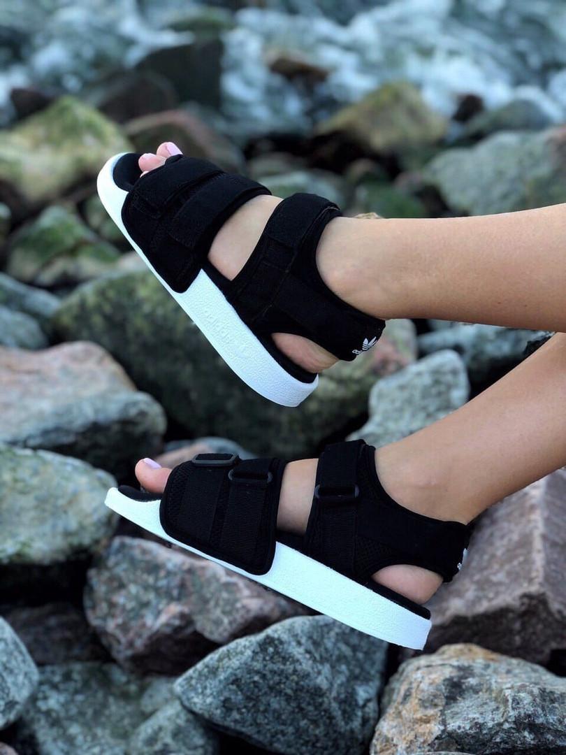 Сандали женские спортивные Adidas Sandal. Босоножки Adidas черного цвета.