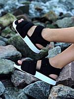 Сандали женские спортивные Adidas Sandal. Босоножки Adidas черного цвета., фото 1